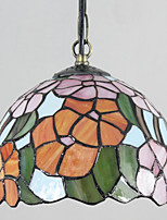 25W Pendant Light   Vintage / Country Painting Feature for Mini Style Metal Bedroom / Dining Room / Entry