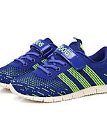 Зеленый Тёмно-синий-Для мальчиков-Повседневный Для занятий спортом-Тюль-На плоской подошве-Удобная обувь-Кеды