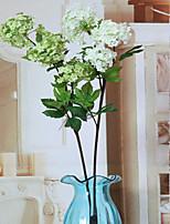 1 1 Ramo Poliéster Hortênsia Flor de Mesa Flores artificiais 85cm