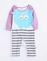 Girl's Casual/Daily Animal Print Overall & JumpsuitCotton Fall Purple