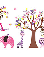 Wall Stickers Wall Decals Owls and FlowerTree Feature Removable Washable PVC