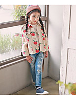 Girl's Casual/Daily Print Suit & BlazerCotton Spring / Fall Beige