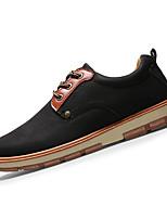 Herren-Sneaker-Lässig-PU-Flacher Absatz-Komfort-Schwarz Blau Braun Gelb