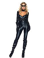 Costumes Uniformes Halloween Noir Couleur Pleine Térylène Collant/Combinaison / Plus d'accessoires
