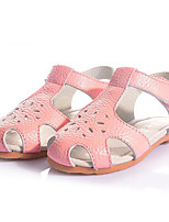 Girl's Sandals Summer Sandals / Round Toe Leather Casual Flat Heel Others Pink / Red / White Others