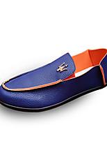Herren-Loafers & Slip-Ons-Lässig-PU-Flacher Absatz-Komfort-Schwarz / Blau / Weiß