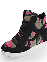 Women's Sneakers Spring / Summer / Fall / Winter Comfort Canvas Outdoor / Casual Wedge Heel Lace-up Fitness & Cross