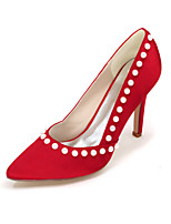 Damen-High Heels-Hochzeit / Party & Festivität-Seide-Stöckelabsatz-Absätze / Spitzschuh-Schwarz / Blau / Rosa / Lila / Rot / Elfenbein /