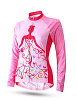 Esportivo Moto/Ciclismo Conjuntos de Roupas/Ternos Mulheres Manga Comprida Respirável / Confortável / Filtro Solar Seda Clássico RosaS /