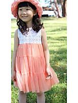 Vestido Chica de-Noche-Un Color-Rayón-Verano-Rosa