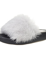 Women's Sandals Summer Comfort Fur Casual Flat Heel Others Black / Yellow / Green / Pink / Gray Others