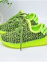 Зеленый / Серый / Темно-красный-Унисекс-На каждый день-Ткань-На плоской подошве-Удобная обувь-Кеды