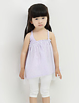 Girl's Going out Striped DressCotton Summer Blue / Purple