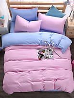 Bedtoppings Solid Color Duvet Cover 4PCS Set