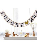 Future Mrs with Glittered Heart Bridal Shower Engagement Party Banner Photo Props
