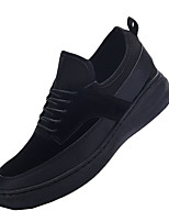 Men's Sneakers Spring / Fall Creepers PU /  Outdoor / Athletic / Casual Flat Heel Lace-up Black / Blue / Red Sneaker
