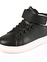 Unisex Sneakers Spring Fall Comfort Microfibre Casual Flat Heel Lace-up Black Red White Others