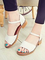 Women's Sandals Summer Platform Leatherette Casual Chunky Heel Others Black / Green / White / Gray Others