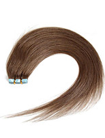 30-50g/pack 16-24inch Indian Remy hair #8 Ash Brown Medium Browm Tape In Human Hair Extensions