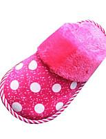 Unisex Slippers & Flip-Flops Winter Comfort / Slippers / Round Toe / Flats Velvet Outdoor /  Pink / Purple
