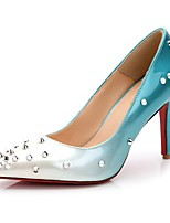 red bottom high heels Women's Shoes leather Pointed Toe Heels Wedding Party  Evening Dress  rivets Heel  women pump