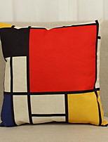 Coton/Lin Taie d'oreiller,Géométrique Moderne/Contemporain