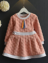Girl's Casual/Daily Patchwork DressRayon Spring / Fall Blue / Pink