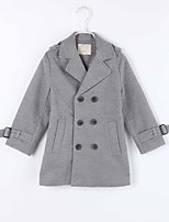 Girl's Casual/Daily Solid Down & Cotton PaddedCotton Winter / Fall Gray