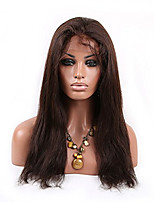 16-26 Inch Natural Straight Brazilian Virgin Human Hair Wig Full Lace Wig With Baby Hair 2# Color