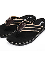 Men's Sandals Summer Comfort PU Casual Flat Heel Others Black / Brown / Green / Gray Others