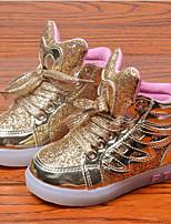 Розовый / Серебристый / Золотистый-Унисекс-На каждый день-Кожа-На плоской подошве-Удобная обувь / С круглым носком-Кеды
