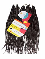 Senegal Twist Auburn Color 33 Synthetic Hair Braids 12inch Kanekalon 81 Strands 125g  Multipal Pack for Full Heads