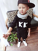 Boy's Casual/Daily Solid Clothing SetCotton Spring / Fall Black / Gray