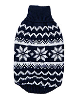 Hunde Pullover Rot / Dunkelblau Hundekleidung Winter Schneeflocke warm halten