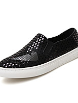 Men's Loafers & Slip-Ons Spring / Fall Comfort PU Casual Flat Heel Slip-on Silver / Gold Sneaker