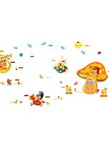 Wall Stickers Wall Decals Style Lovely Cartoon Dream Mushroom House PVC Wall Stickers