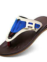 Men's Sandals Summer Flats Leather Casual Flat Heel Others Blue / Brown Others