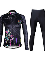 PALADIN® Cycling Jersey with Tights Women's Long Sleeve BikeBreathable / Quick Dry / Ultraviolet Resistant / Reflective Strips / Back