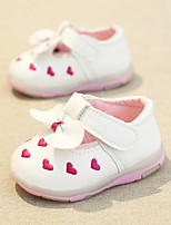 Girl's Loafers & Slip-Ons Spring Fall Flats Synthetic Casual Flat Heel Magic Tape Pink Red White Walking
