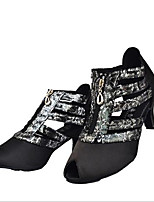 Women's Heels Spring Fall Leather Outdoor Casual Stiletto Heel Lace-up Black Others