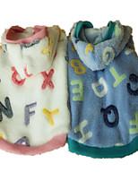 Hunde Kapuzenshirts / Pyjamas Blau / Rosa Hundekleidung Sommer / Frühling/Herbst Buchstabe & Nummer Niedlich / Lässig/Alltäglich
