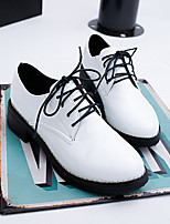 Women's Oxfords Spring / Fall Creepers PU Casual Platform Lace-up Black / Pink / White Others