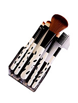 5 Makeup Brushes Set Synthetic Hair Portable Plastic Face ShangYang