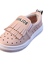 Girl's Loafers & Slip-Ons Summer Comfort / Round Toe PU Casual Flat Heel Others / Tassel Black / Pink / White