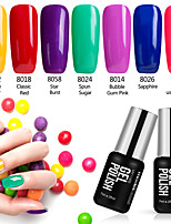 Nail Polish Gel UV 7ml 7 soak Off / Purpurina / Gel de Côr UV / Gelinho / Neutro / Cintilante Mergulhe off de Longa Duração