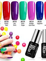 7PCS Modelones Nail Art Beauty Shining Gel Polish 7ML Vainish UV Lacquer Soak off
