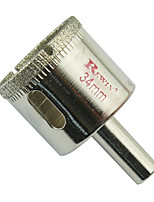 agujeros de cristal de acero de aleación herramienta REWIN agujero abridor de tamaño 34mm-2pcs / box