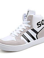 Men's Sneakers Spring Fall Comfort Patent Leather Casual Flat Heel Lace-up Black Blue White