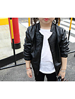 Girl's Casual/Daily Solid BlousePU Spring / Fall Black