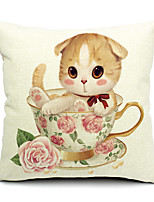 1PC Household Articles Back Cushion Novelty Originality Fashionable Cat Single Pillow Case